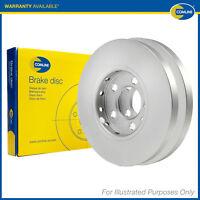 2x Genuine Comline Rear Solid Coated Painted Brake Discs Set Pair