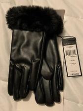 BCBG Ladies Faux Fur Gloves Size L/XL
