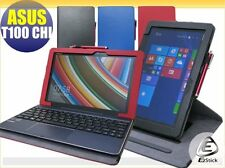 ASUS TransformerBook T100 Chi Rotating & detachable keyboard PU leather case_RED