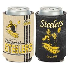 PITTSBURGH STEELERS STEELY MCBEAM RETRO LOGO KADDY KOOZIE CAN HOLDER WINCRAFT
