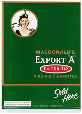 "MACDONALD'S EXPORT ""A"" Virginia Cigarettes Stand-up Store Cardboard Sign"