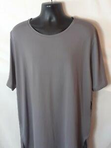 Nike Dri Fit Mens Activewear T-Shirt XXL Dark Gray Short Sleeve Small Pocket