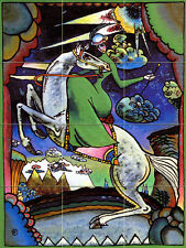 Russian Art Wassily Kandinsky Mural Horse Tumbled Marble Tile #679