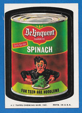 1974 Topps Original Wacky Packages 9th Series Delinquent Spinach  tan back