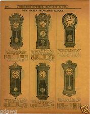 "1915 PAPER AD New Haven Regulator Wall Clock 36"" Solent Referee Harvard Vamoose"