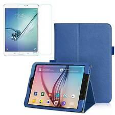 COVER Custodia SMART Blu + Pellicola VETRO per Samsung Galaxy TAB S3 T820 /T825