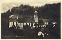 Triberg Schwarzwald Postkarte ~1920/30 Partie an der Wallfahrtskirche ungelaufen