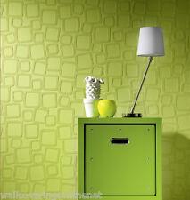 Paste the Wall, 3d Effect, Square Design, Paintable, Blown Vinyl Wallpaper
