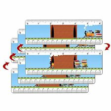 Ruler Bookmark Book Train 6 Inch Animated Lenticular 3 pcs. #RU06-354MI-S3#