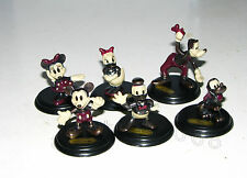 Yujin Disney Sepia Mickey Pluto Goofy metal figure gashapon (full set 6 pcs)