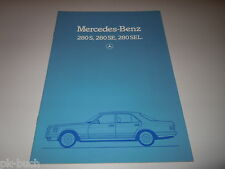 Prospekt Mercedes Benz S-Klasse W126 W 126 280 S SE SEL, Stand 11/1983