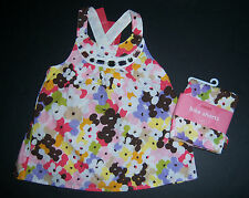 NWT Gymboree Glamour Safari 5 5T Floral Gem Tank Top & Flower Print Bike Shorts