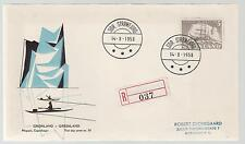 1958 Greenland  FDC # 38 5Kr Hi Val Of Set First day Cover Gustav Holm Ship