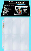 25 ULTRA PRO PLATINUM 6-POCKET Card Pages NEW Sheets Protectors Sports Ticket
