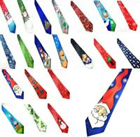 30+ Mens Christmas Neck Tie Santa Gift Xmas Fancy Snowman Office Present Novelty