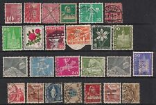 Switzerland Helvetia Selection of 25 used stamps  ( A819 )