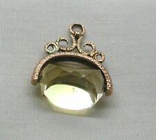 Vintage 9 carat Gold Citrine Spinner Fob Pendant