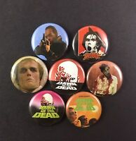"Dawn of the Dead (1978) 1"" Button Pin Lot George A. Romero Zombie Horror"