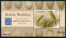 Micronesia 2015 MNH British Warblers Gronvold Europhilex 1v S/S Birds Stamps