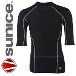SUNICE SKINS SHORT SLEEVE BASELAYER BLACK OR WHITE BRAND NEW