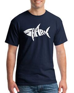 Great White Shark predatory Men/'s T-Shirt//Tank Top z647m