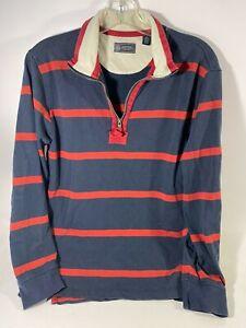 Arrow 1851 Men/'s Sz L Saranac Long Sleeve 1//4 Zip Fleece Pullover Sweater Orange