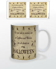 HALLOWEEN-GOBLINS & WITCHES 11 OZ COFFEE MUG SCARY UNSAFE CELEBRATION DRESS UP!!