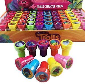 Dreamworks Trolls Self Inking Stamper Pencil Topper Kids Party Favor Bag Filler