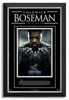 Chadwick Boseman Black Panther Facsimile Signed Archival Etched Glass™ Shadowbox