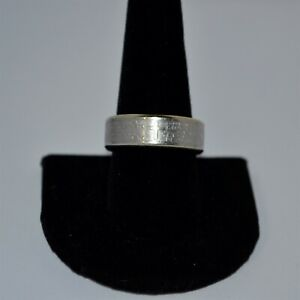 """Stainless Steel """"The Lord's Prayer"""" Ring ~ Size 11 & 8.8gr"""