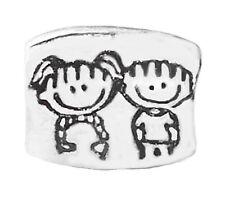 Girl Boy Twins Children Son Daughter Siblings Charm for European Bead Bracelets