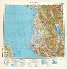 Russian Soviet Military Topographic Maps - TIRANE (Albania), 1:500 000, ed.1982
