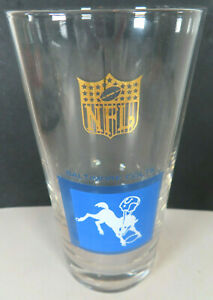 1960s Baltimore Colts NFL Mascot Logo Drinking Kitchen Glass Hickok Football
