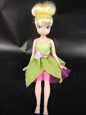 Disney Fairy Tinker Bell Green Dress Sparkle Pink Tulle Flower waist belt