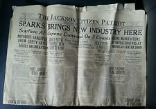 ANTIQUE AL CAPONE SCARFACE CONVICTION GUILTY GANGSTER IRS OCT 1931 NEWSPAPER MI