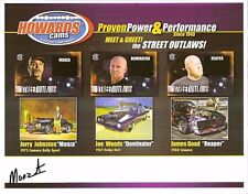 """2017 """"MONZA"""" JERRY JOHNSTON signed STREET OUTLAWS HERO PHOTO CARD AS SEEN ON TV"""