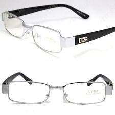 DG Mens Womens Clear Lens Rectangular Eye Glasses Fashion Full Rim Frame Retro