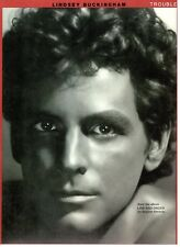 LINDSEY BUCKINGHAM-TROUBLE-SHEET MUSIC-PIANO/VOCAL/CHORDS-FLEETWOOD MAC-1981-NEW