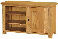 Logan solid oak furniture television cabinet stand unit with door