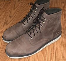 Timberland Earthkeepers Boots Newmarket Brown Leather Wedge-13M
