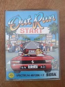 OutRun Cassette (PAL) - ZX Spectrum with instructions
