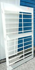 "INTERIOR SOLID WOOD PLANTATION SHUTTER, 4.5"" LOUVERS 57 1/2 ""L  NEW WHITE"