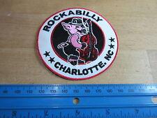 Patch Rockabilly swinging PIG Charlotte Hot Rod Nose Art 40's 50's v8 US Car