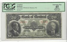 **1923**Bank Of Montreal $20 Note ;PCGS**EF-45, Minor St**SN# 122493 Large Note
