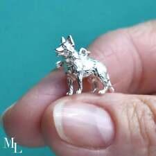 Sterling Silver Alsatian Dog Jewellery Charm