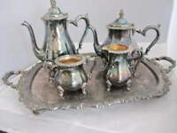 Vintage Webster Wilcox By Oneida 5 pcs. Silver Plate Coffee & Tea Service Set