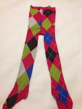 NWT Oilily 116 (5-6), Girls Pink Multicolor Tights
