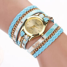 Vogue Bracelet Watch Womens Watch Faux Leather Band Leopard Printed Ladies Watch