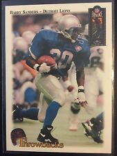 Barry Sanders 1994 Classic NFL Experience Throwbacks Insert Detroit Lions HOF SP