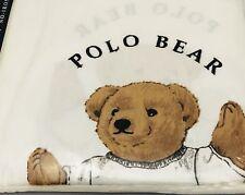 New Ralph Lauren Polo Sports Teddy Bear 2 Standard Pillowcases Vintage Cotton